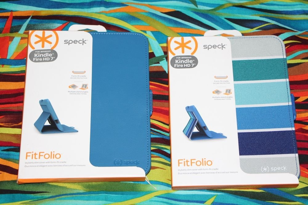 """Speck Fitfolio for Amazon KIndle Fire HD 7"""" Blue OR Blue Striped SPK-A1530 A1555"""