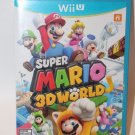 Nintendo Wii U SUPER MARIO 3D WORLD GAME AND CASE MINT  Ship Same Day