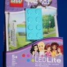 LEGO FRIENDS BLUE 2 X 4 BRICK LED KEY LIGHT Key Chain LGL-KE5F NEW! GREAT GIFT!