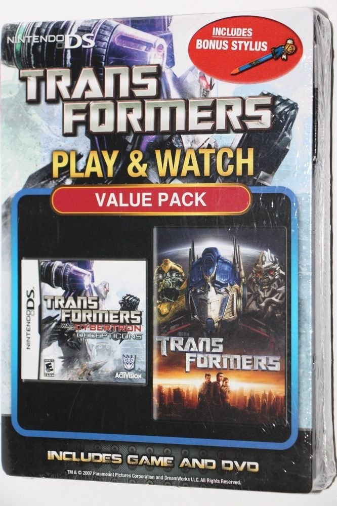 Nintendo DS Transformers: War for Cybertron Decepticons Game + Transformers DVD