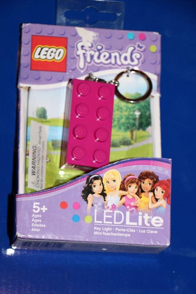 Lego FRIENDS PINK 2 X 4 Brick LED KEY LIGHT Key Chain LGL-KE5F NEW! Great Gift