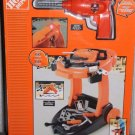 The Home Depot Kids Trolley Workbench Toy Drill 60 Pieces Moving Lights Sounds