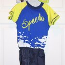 Speedo Toddler Kids M/L Boys Age 2-4 UV 2 piece Flotation Suit Swim Bathing Suit