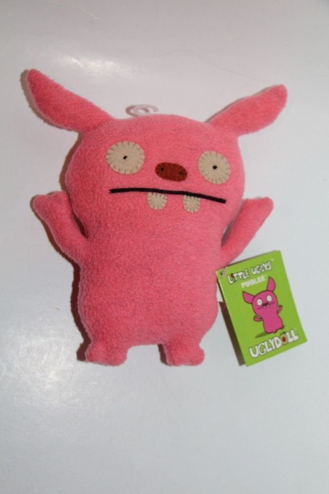 """UGLY DOLL Gund PUGLEE pink 7"""" NEW with tags"""
