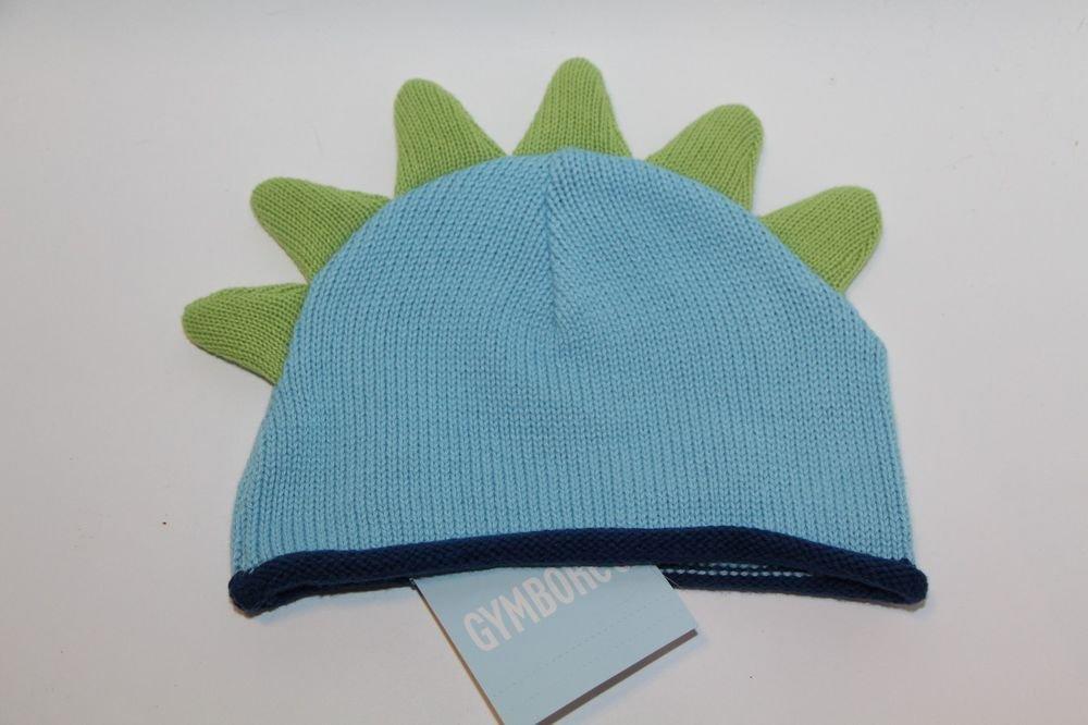 Genuine Gymboree Kids Baby Newborn Dinosaur Winter Hat Green/Blue NEW WIth Tags