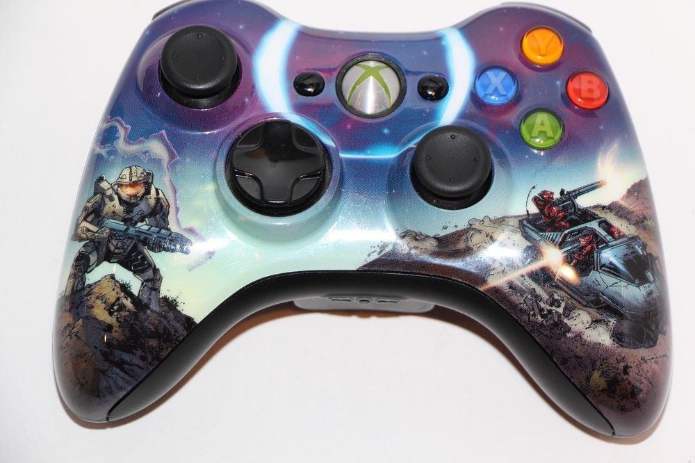 Genuine Microsoft Xbox 360 HALO 3 SPARTAN  WIRELESS CONTROLLER VERY GOOD SHAPE