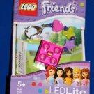 Lego FRIENDS BRICK LED KEY LIGHT Key Chain PINK LGL-KE3F Original Package NEW!