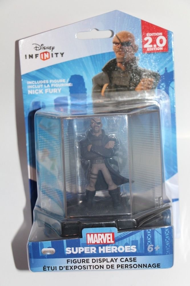 Disney Infinity 2.0 Marvel Avengers NICK FURY FIGURE & DISPLAY CASE COLLECTABLE