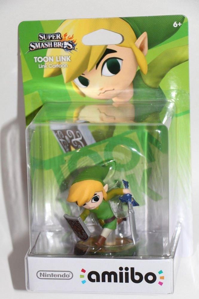 Nintendo Amiibo TOON LINK Super Smash Bros Wii U IN HAND SHIPS SAME DAY BOXED!