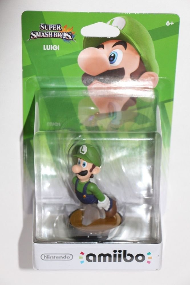 Nintendo Amiibo LUIGI Super Smash Bros Wii U IN HAND HTF SHIPS SAME DAY!