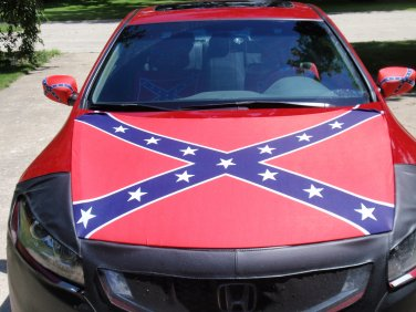 Confederate Flag Engine Hood Cover