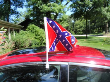 Confederate Flag Car Window Flag