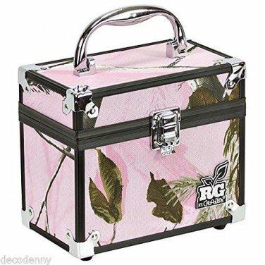 RG BY CABOODLES REALTREE AP PINK CAMO MEDIUM TRAIN MAKEUP CASE BOX 4505-10