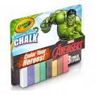 CRAYOLA 8CT WASHABLE SIDEWALK CHALK~MARVEL AVENGERS CAPTAIN AMERICA HULK AGES 4+