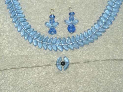 10mm Medium Sapphire Czech Glass Angel Wing Beads