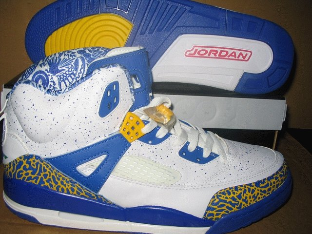 Nike Air Jordan IV.5 Spike - White/Blue/Yellow