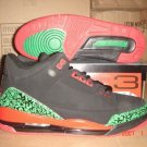 Air Jordan 3 Retro Black/Green/Orange