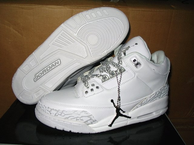 Air Jordan 3 Retro Whte/Metallic Silver