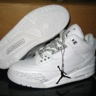 Air Jordan 3 Retro Whte/Metallic Silver