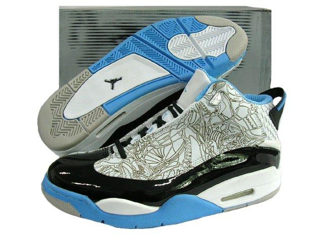 Nike Air Jordan Dub Zero - White/Grey Laser/Black/Carolina Blue Mid
