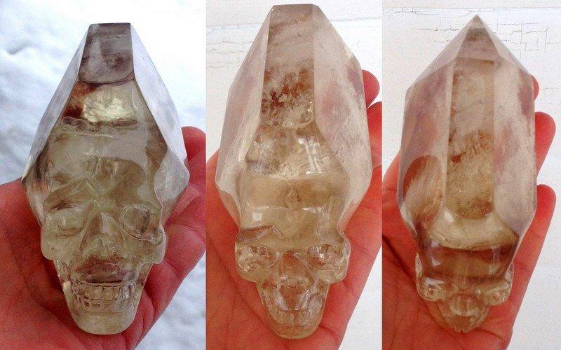 Metaphysical crystals Citrine Crystal Skull Generator Point Altar Wand Manifestation crystal healing