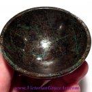 Healing crystals Chrysocolla gemstone bowl Harmony Karmic Cleansing Reiki Meditation stone bowls