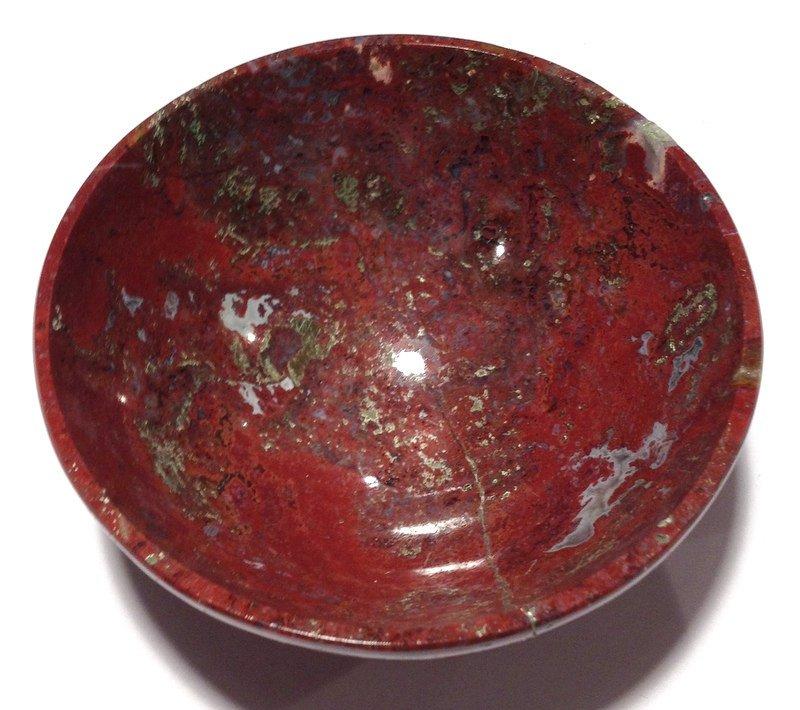 "Healing crystals 3"" gemstone Bowls Moss Agate Red Jasper wiccan Magic altar Kundalini Reiki Energy"