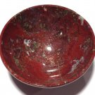 "Healing crystals 3"" gemstone Bowls Moss Agate Red Jasper wiccan Magic altar Kundalini Reiki Energy"