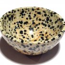 Gemstone bowls Healing crystals Dalmation Jasper Black Tourmaline Stone Devotional Altar Bowl