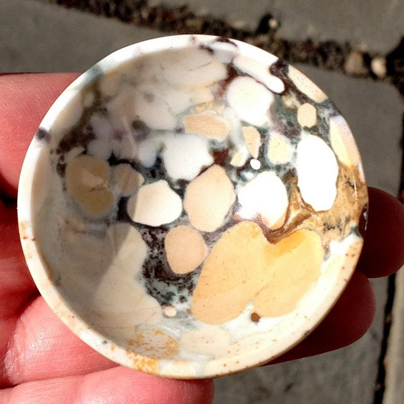 Metaphysical Healing crystals gemstone bowls Leopard Jasper psychic ability astral travel stone bowl