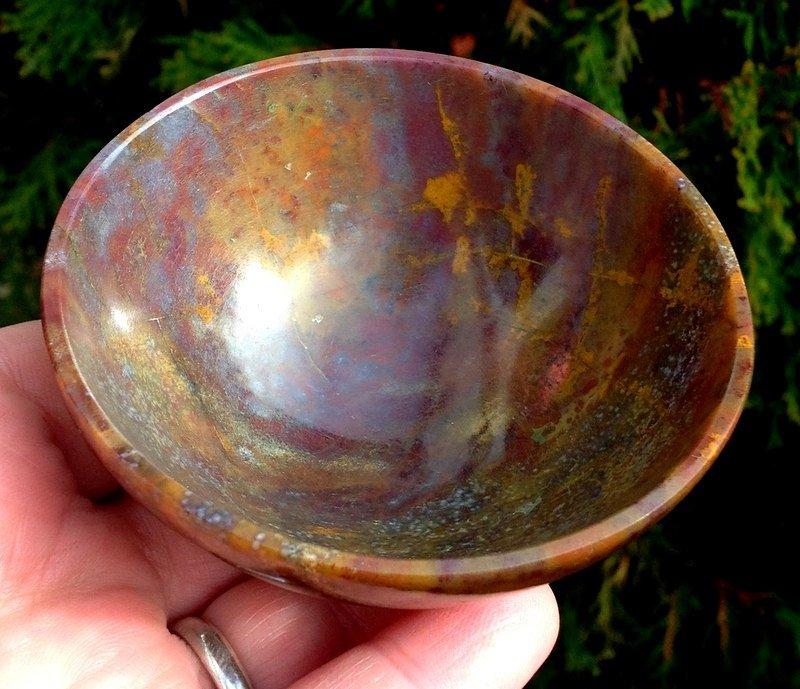 Archangels Spiritual realm healing crystals Gemstone bowls Fancy Jasper Stone meditation altar bowl