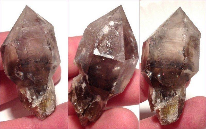 Smoky Ametrine Quartz Scepter Metaphysical manifestation Power healing crystals Amethyst citrine