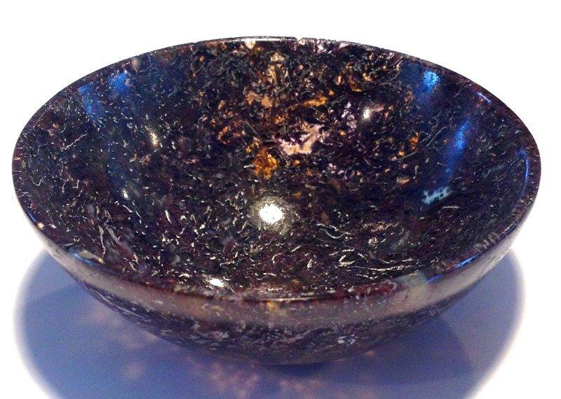 Archangels Crystal healing Gemstone Bowls Plum Moss Jasper Reiki Metaphysical Spiritual Realm Angels