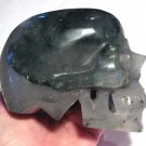 Large Crystal SKulls Green Chlorite Phantom Quartz Skull Metaphysical Cleansing Earth Energy Healing