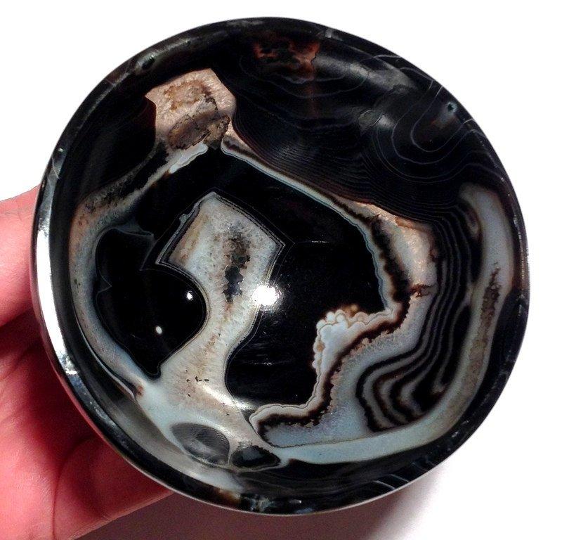 Gemstone bowls Solomon Agate Onyx Crystal healing Earth Energy cleansing Quartz crystalline altar