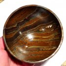 "Earth Energy Healing Crystals 4.25"" Gemstone Bowls Tiger Iron Jasper Stone Altar manifesting bowl"