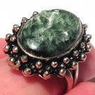 Angel Magick Crystal Healing Rings Archangels Seraphinite Gemstone Sterling Silver Energy Jewelry