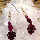 Garnet Gemstone Earrings Kundalini Personal Power Metaphysical Crystal Energy healing Jewelry