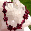 Garnet Gemstone Bracelet Kundalini Root Chakra Metaphysical Power Quartz Crystal healing Jewelry