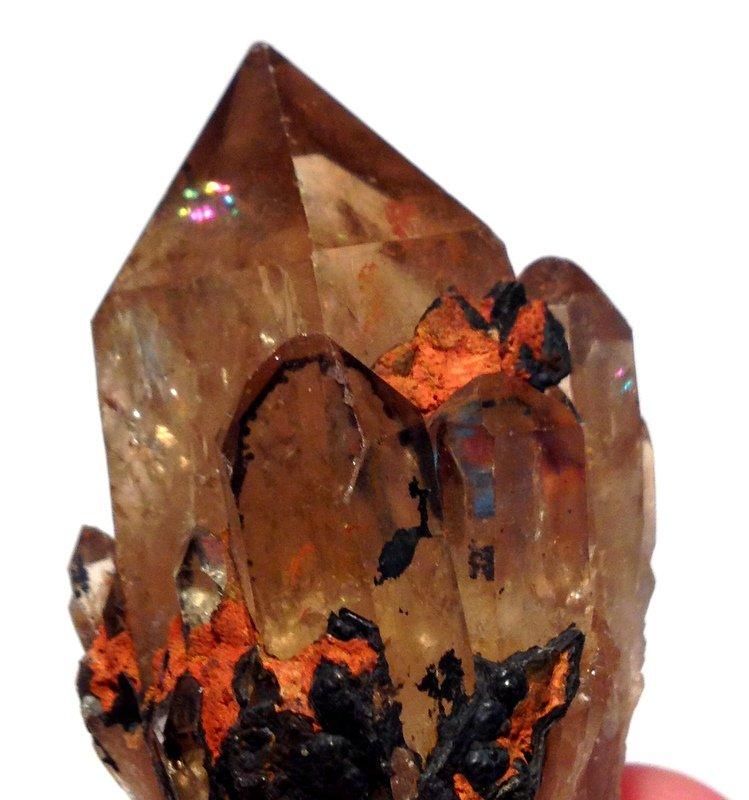 Metaphysical Crystal Healing Congo Citrine Abundance Manifestation Quartz Lightbrary Point cluster