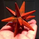 "3.3"" Large Merkaba Star Red Jasper Gemstone Crystal Grid Healing Metaphysical Kundalini stone"