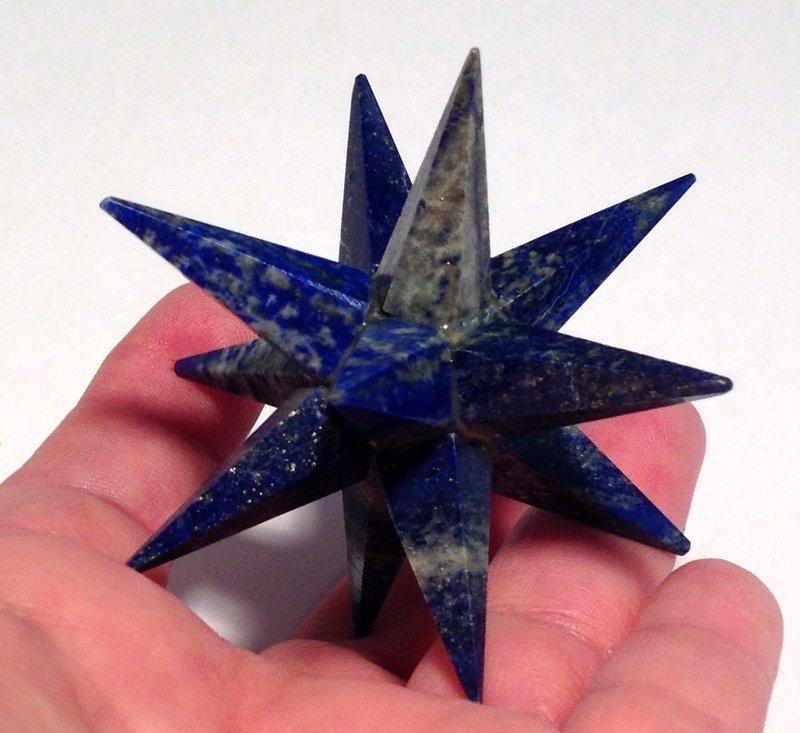 Huge Lapis Lazuli Merkaba Star Crystal Grid Healing Psychic Ability Metaphysical Manifesting Tool
