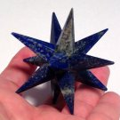 Huge Lapis Lazuli Merkaba Star Crystal Grid Healing Psychic Ability Metaphysical Manifesting Tool