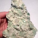 Crystal Self Healing Green Apophyllite Druzy Plate Pineal Gland Activation Aura Karma Cleansing