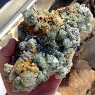 "Large 8"" Green Fluorite Druzy Spirit Fairy Quartz Point Pyrite Crystal Self Healing Mineral Specimen"