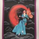 Crescent Moon Glow Tea Cup Fairy Giclee Fine Art Print Metaphysical Spiritual Fantasy Deco