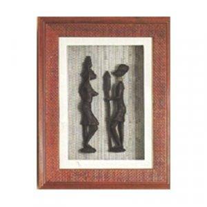 Shadow Box w/ Masai Couple