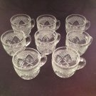 Nice, Cut Glass Punchbowl Cups - Set Of 8!