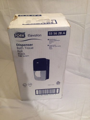 Tork bath tissue roll dispenser. Black. 55 56 28 A