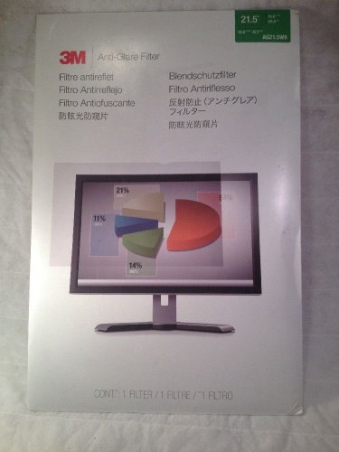 "3M AG21.5W9 Anti-Glare Filter, LCD Monitor 21.5"" Widescreen"
